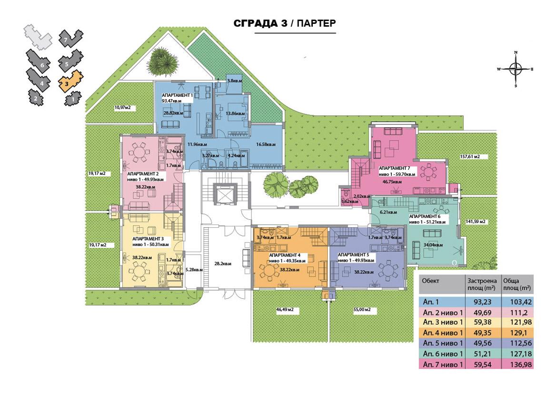 СГРАДА 3 - ПАРТЕР