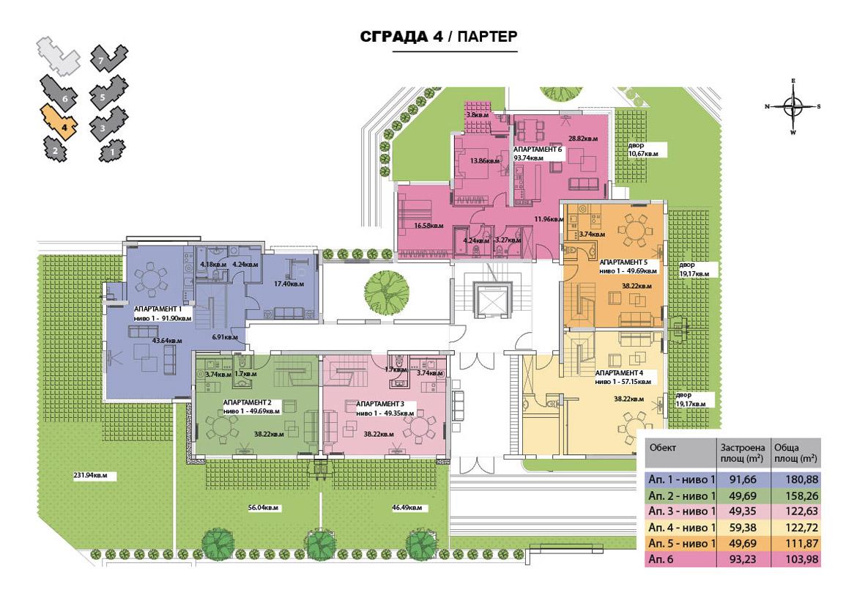 СГРАДА 4 - ПАРТЕР